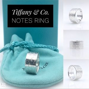 Tiffany & Co. Notes 925 Sterling Wide Ring